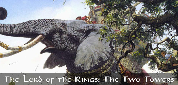 The Two Towers by J.R.R. Tolkien (header)