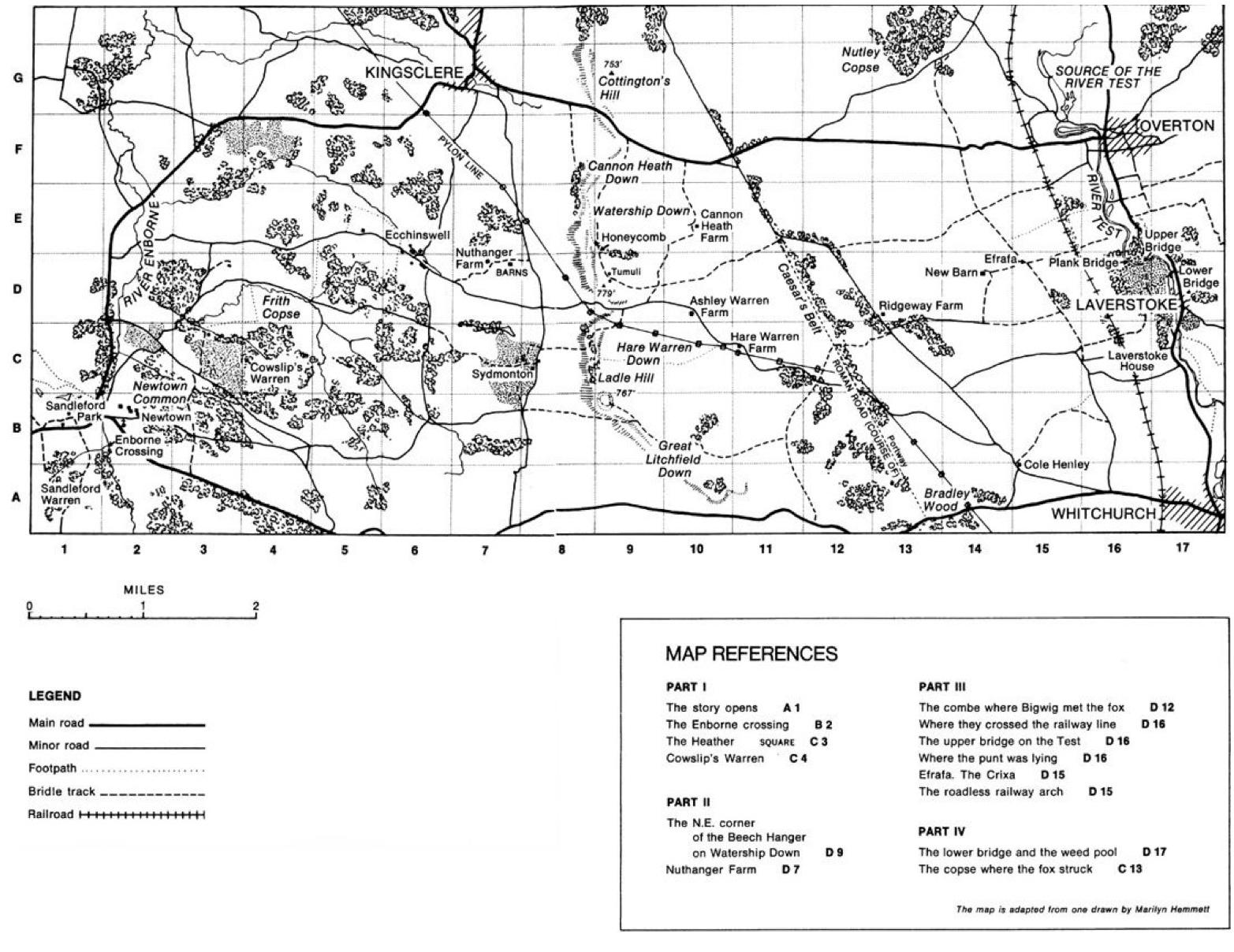 Watership Book Map